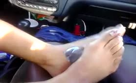 footjob in car AGAIN!!