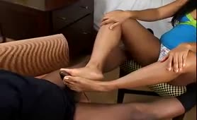 Cali Alexis brown sugar footjob