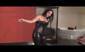 Goddess whipping slaves