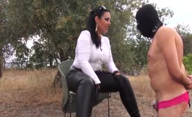 Mistress Ezada Sinn - Outdoor humiliation