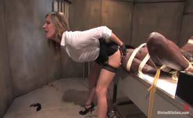 Jack Hammer Dominated by Maitresse Madeline and Bella Rossi