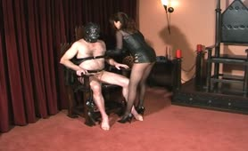 CBT, Nipple torture and handjob