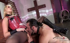 Worshiping his Goddess