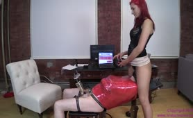 Milking Machine and Panty Gag