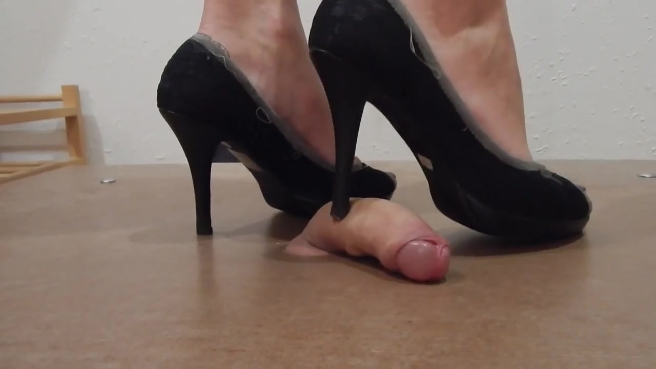 Crushing the cock with High Heels
