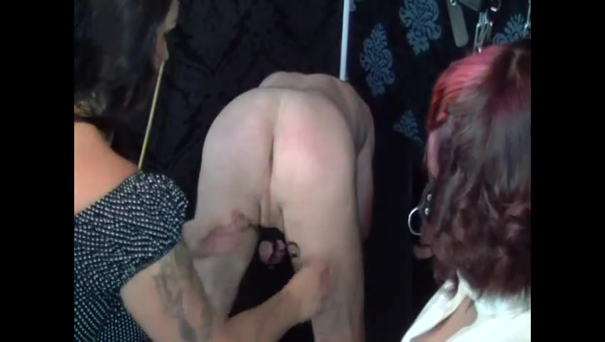 Ass fisting and CBT by Two Mistresses