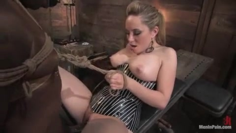 Aiden Starr and her ebony Slave