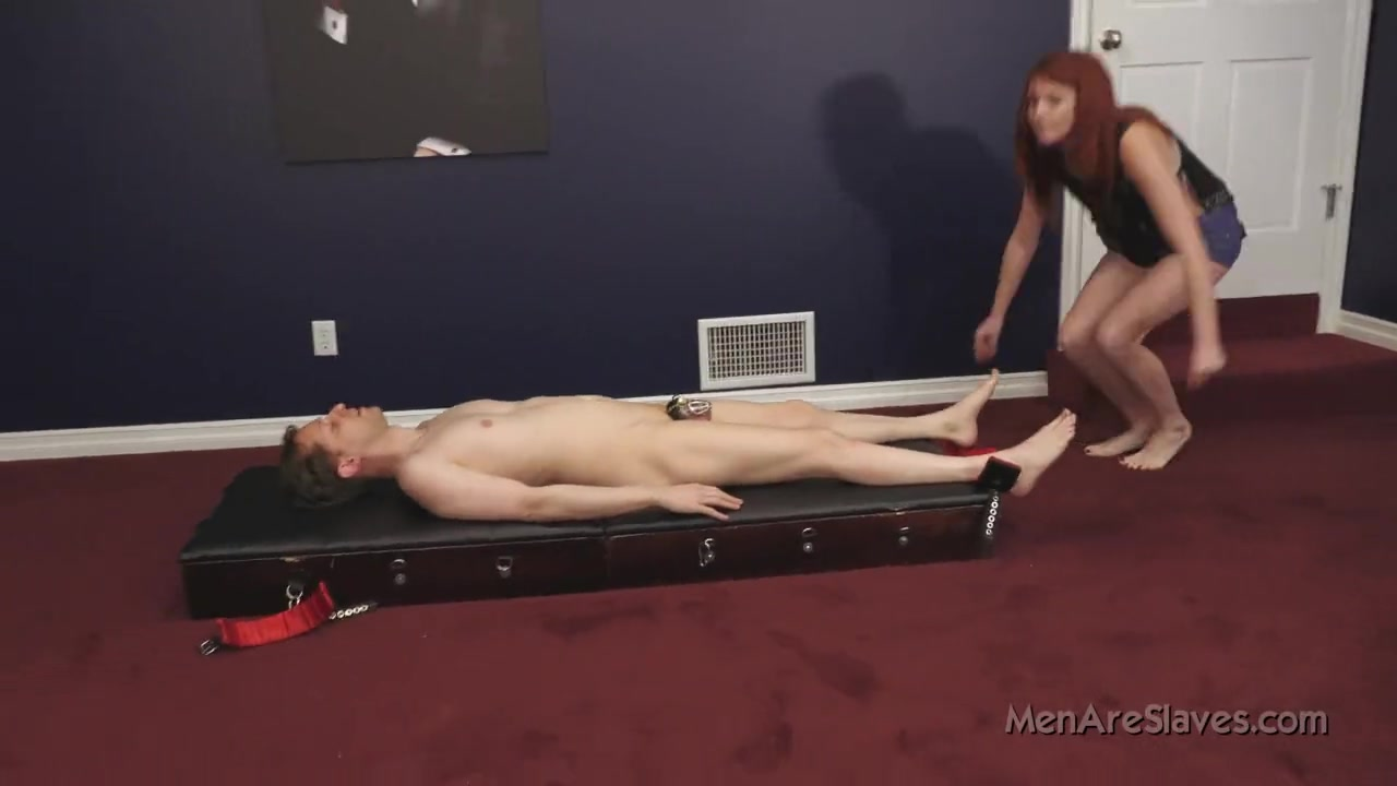 Redhead Mistress and Dog Slave