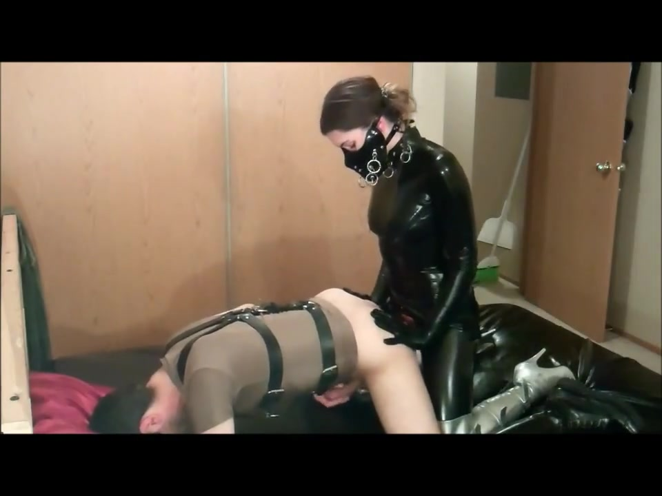 Latex and strapon