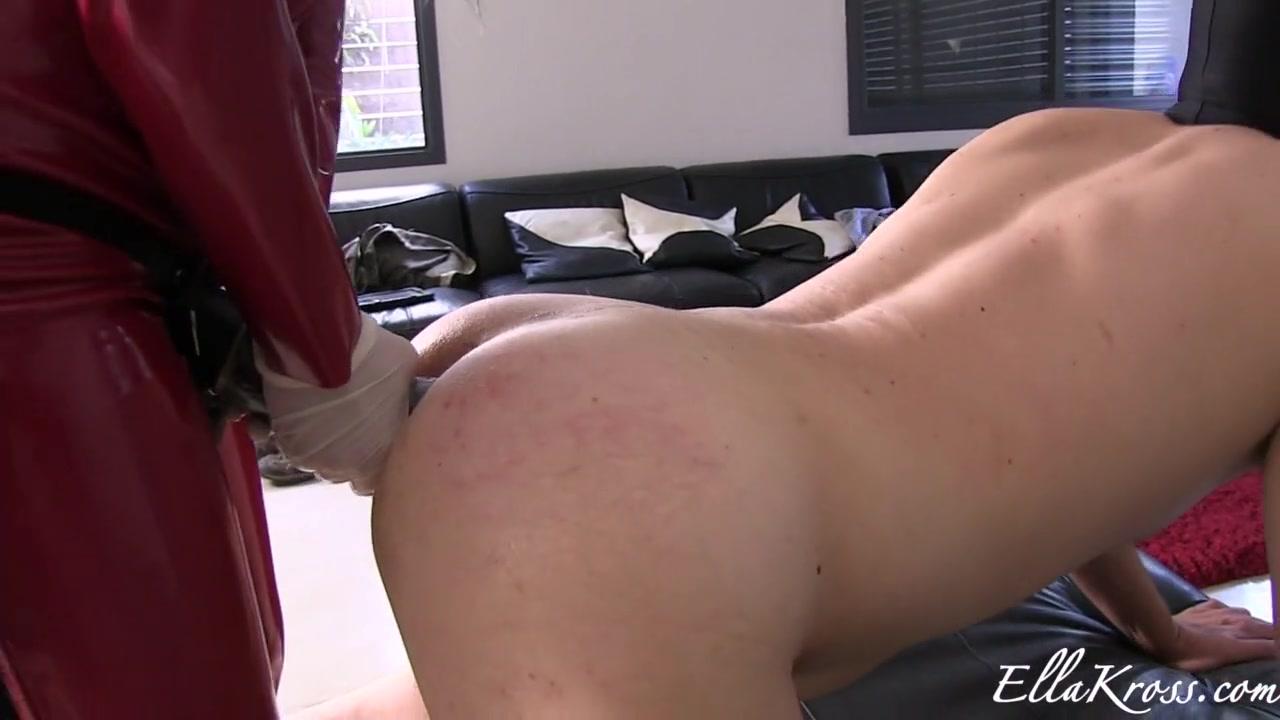 massive Strap-on for her slave man