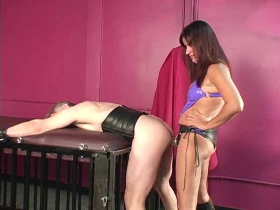 Strapon Training A Chastity Slave