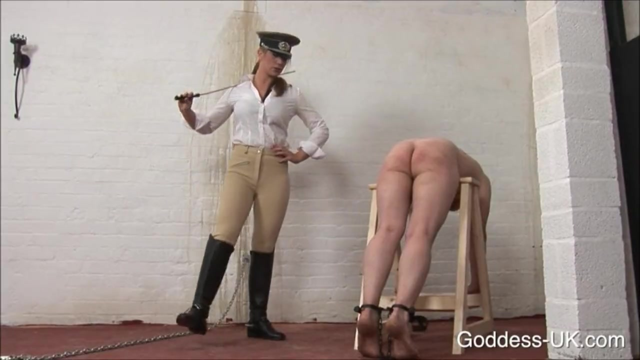 Caning the male slave