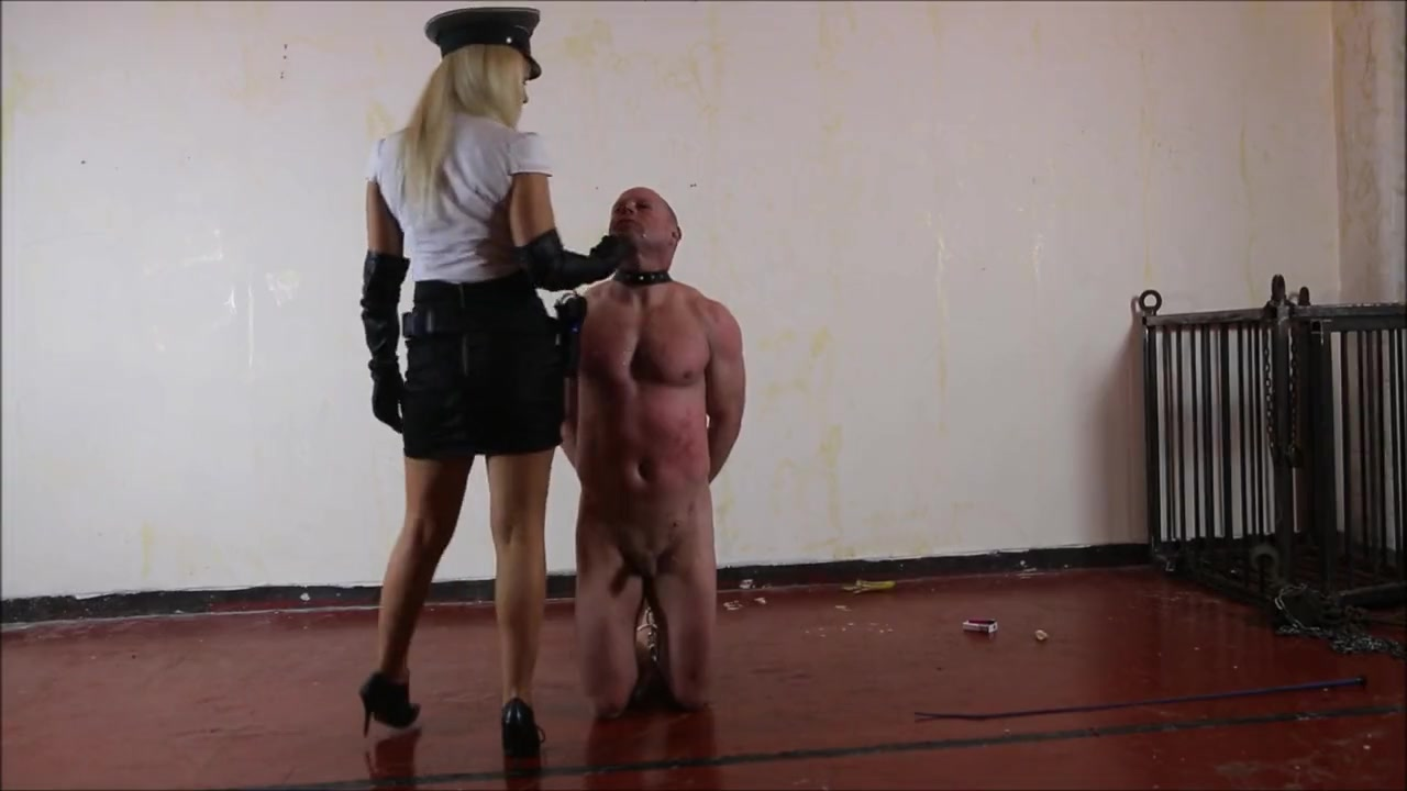 Strict mistress spitting and slapping