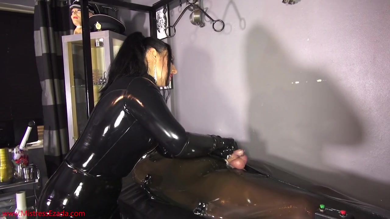 cock and Ball Torture in Latex