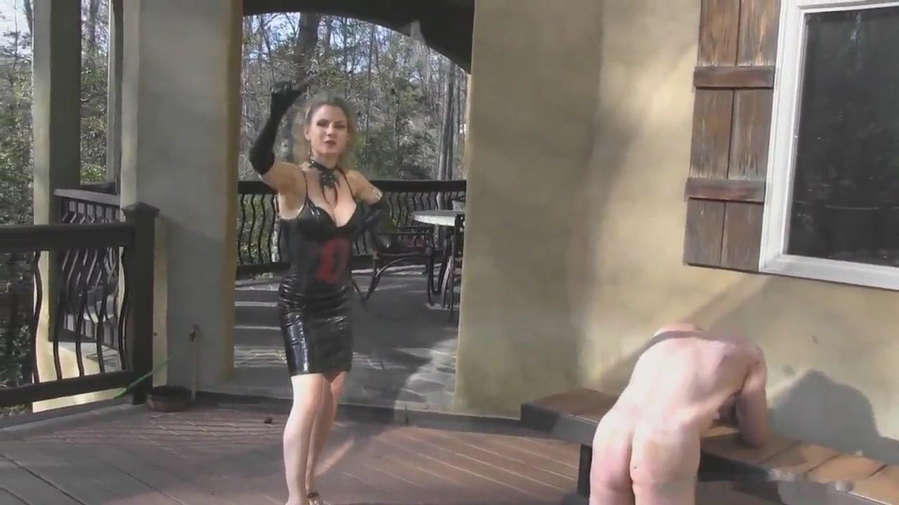 Outdoor Femdom Whip Punishment