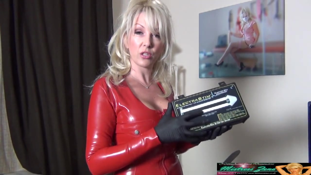 Latex Mistress Pegging with Electro Strap-on
