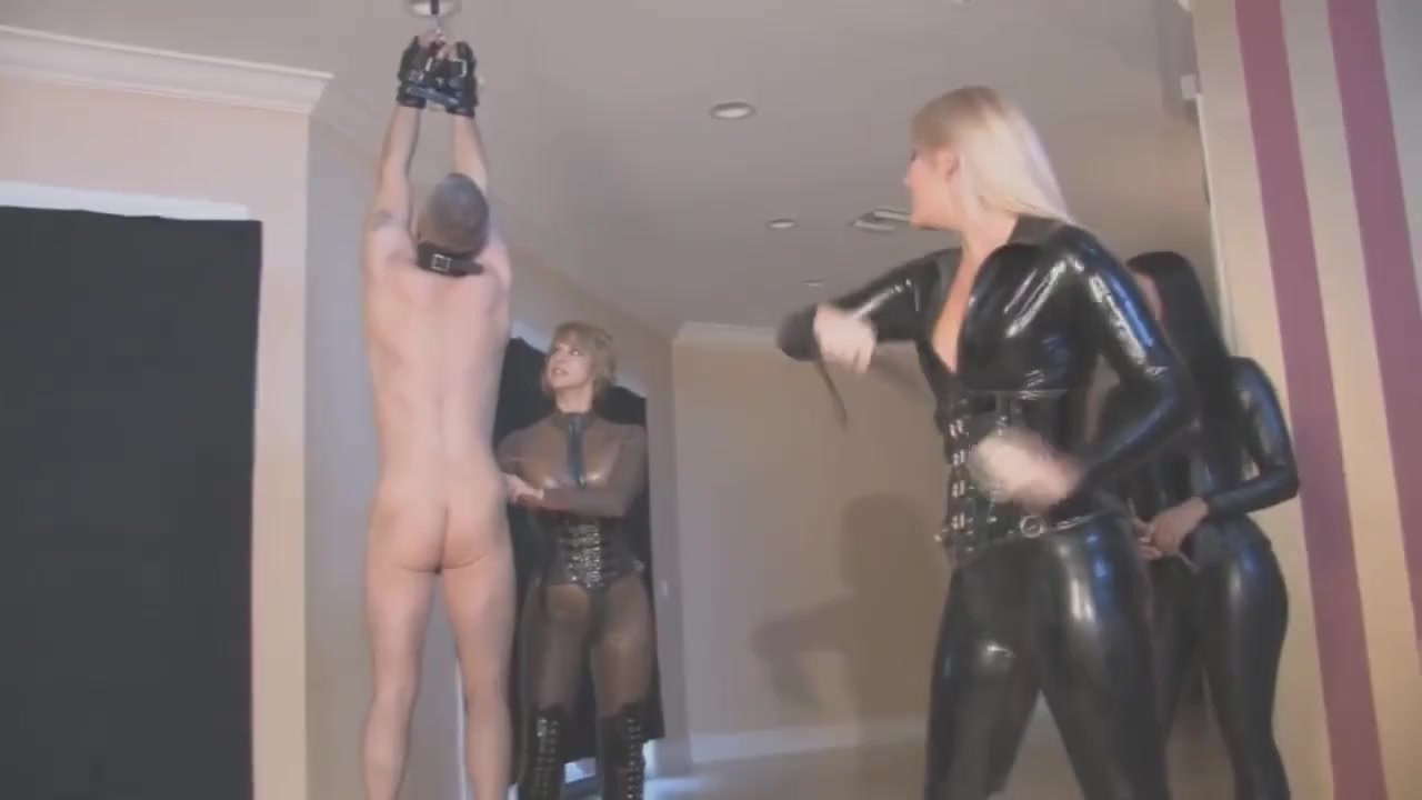 Femdom Suspension Whipping