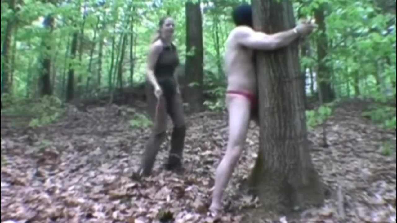 Outdoors Femdom Whipping