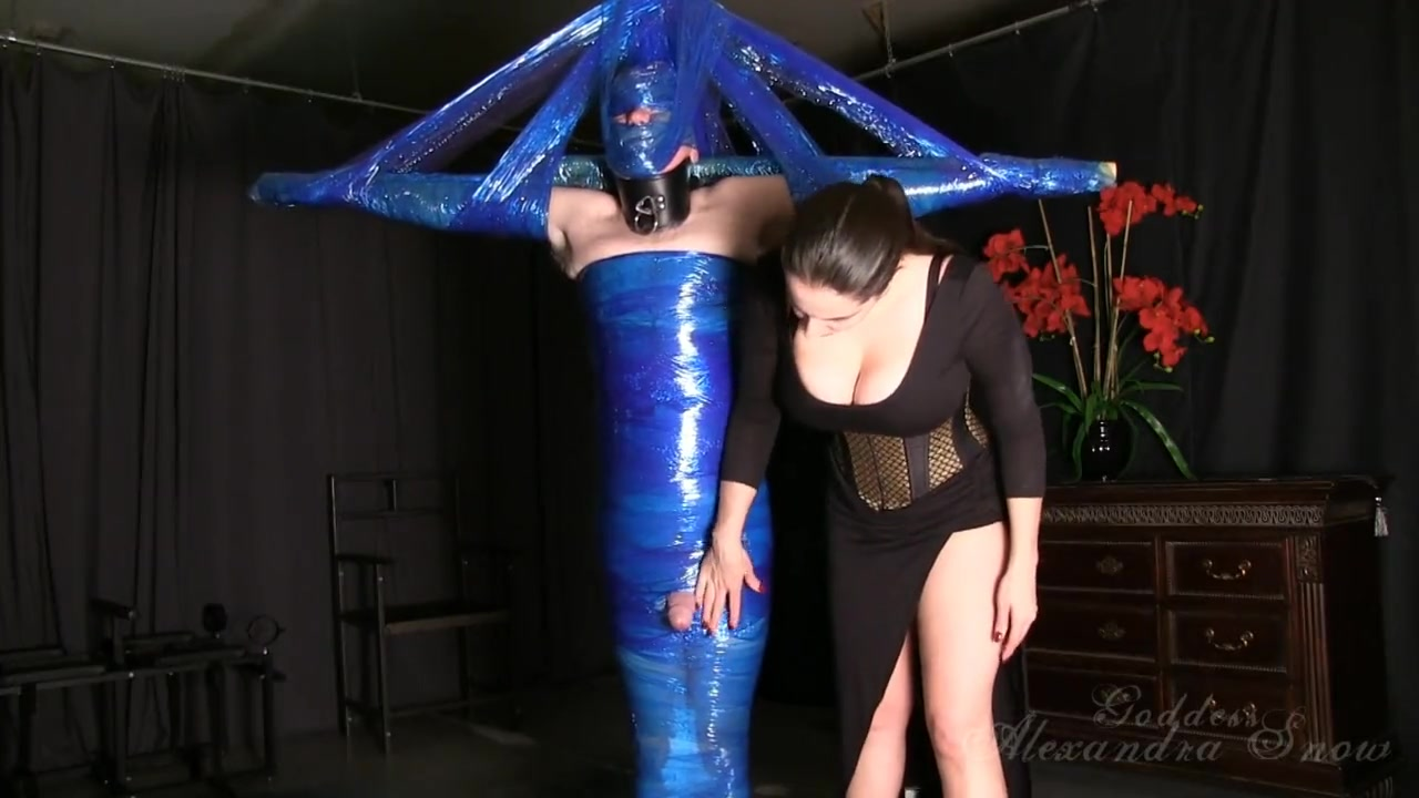 Blue Saran Wrap and Ballbusting