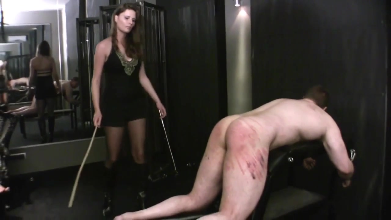 Caned Hard By Three Dommes