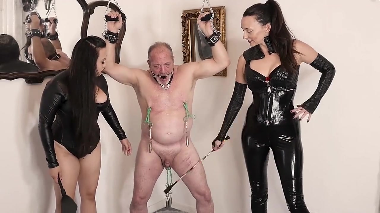 Dommes Torturing Male
