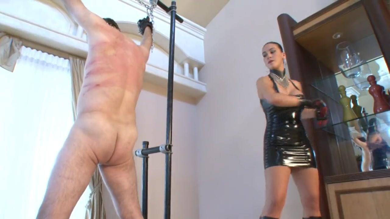 Mistress Maike Flogging Her Slave