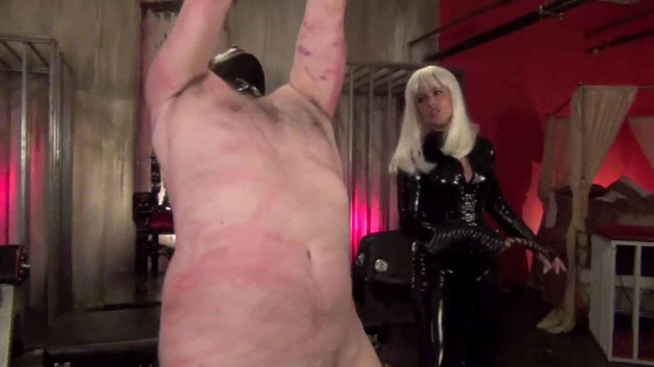 Mistress Cecelie Whipping Her bitch BF