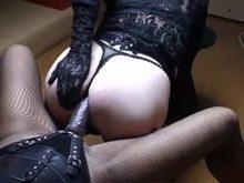 Sissy fucking strap-on Femdom