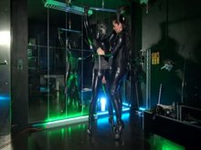 Latex Sissy and German Mistress