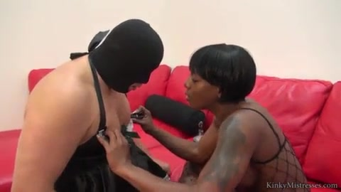 Ebony Goddess and Her sissy maid